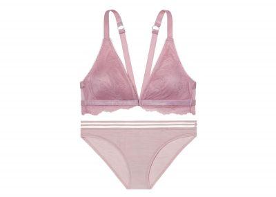 Podprsenka Victoria's Secret Bralet a nohavičky Bikini (Lavender)
