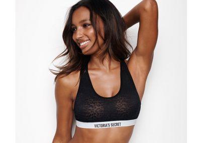 Podprsenka Victoria's Secret Bralet Leopard Lace (Black)