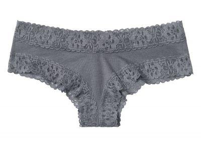 Nohavičky Victorias Secret strih Brazilky Cotton Lace (Grey)