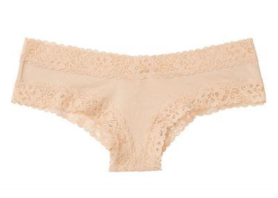 Nohavičky Victorias Secret strih Brazilky Cotton Lace (Nude)