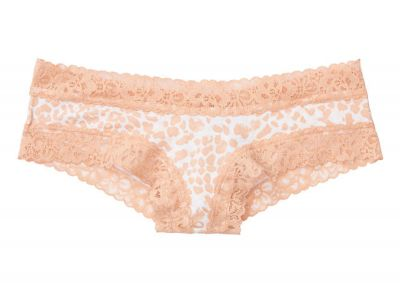 Nohavičky Victorias Secret Brazilky Cotton Lace (Nude Leopard)