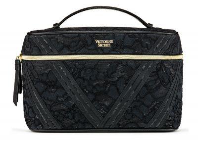 Kozmetický kufrík + taštička Victorias Secret (Black Lace)