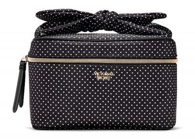 Kozmetický kufrík + taštička Victorias Secret (Black Dot)