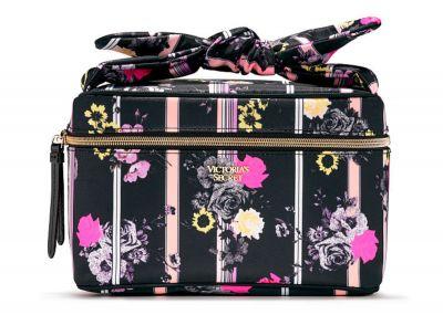 Kozmetický kufrík + taštička Victorias Secret (Black Floral)