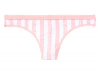Nohavičky Tanga Victorias Secret Cotton Logo (Victoria Stripe)