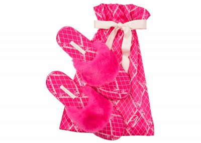Chlpaté papuče Victoria's Secret (Fuchsia Logo)