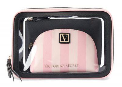 Trio kozmetických taštičiek Victorias Secret (Victoria Stripe)